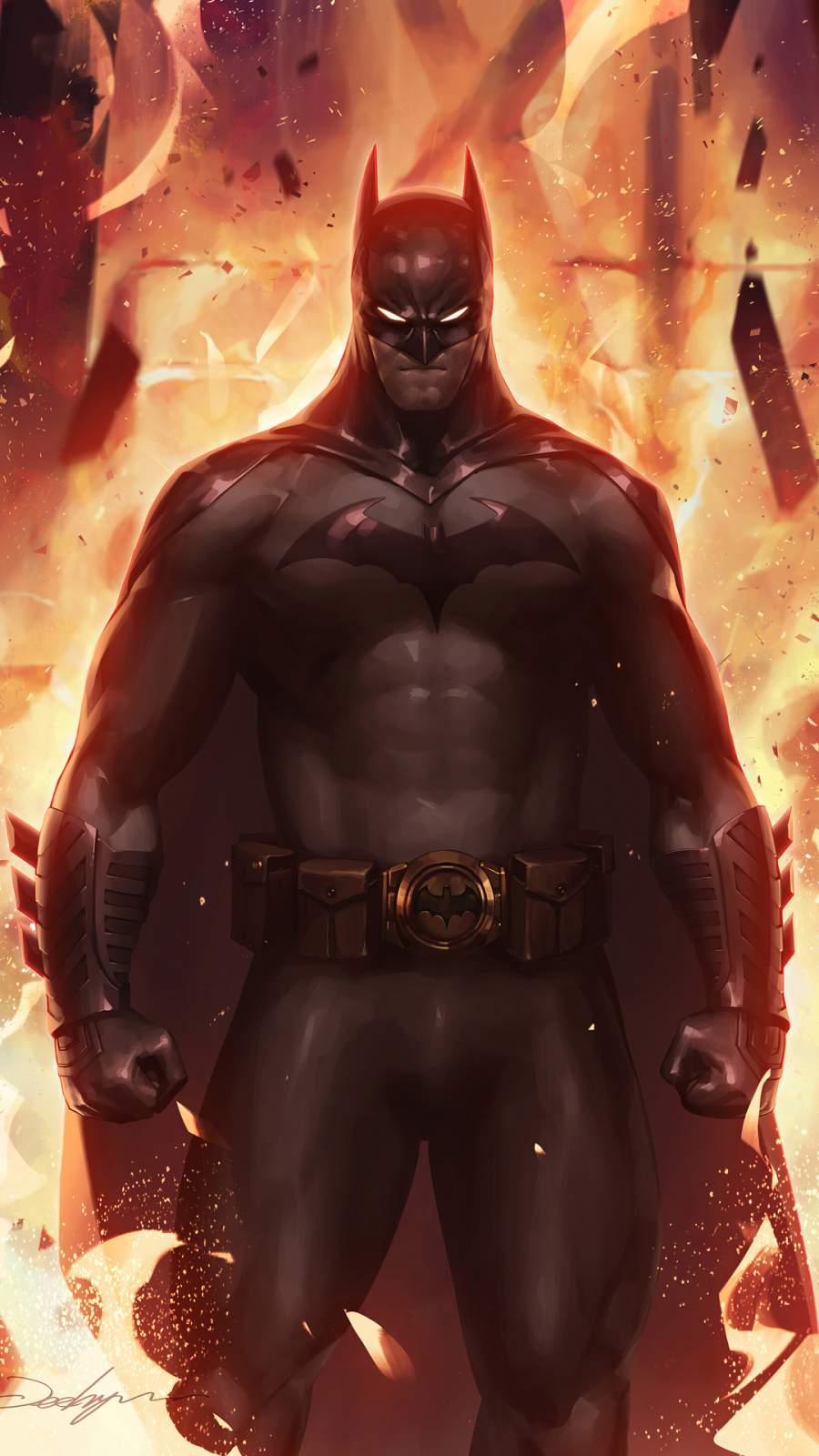 Batman Fire iPhone Wallpaper