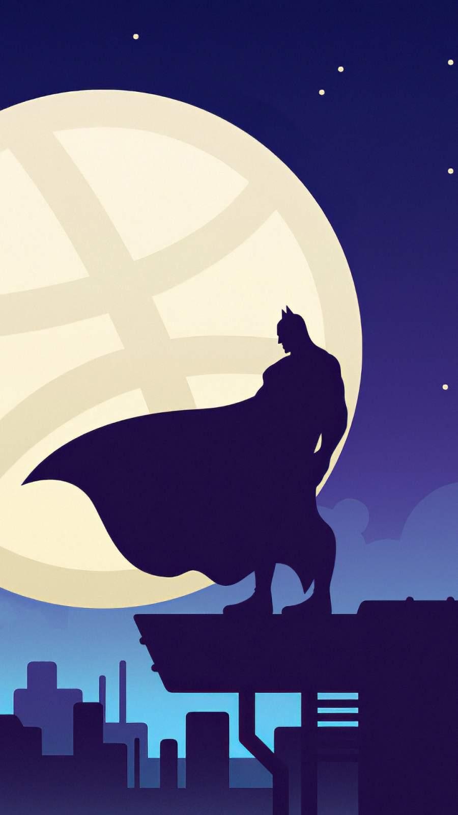 Batman Gotham Moon iPhone Wallpaper