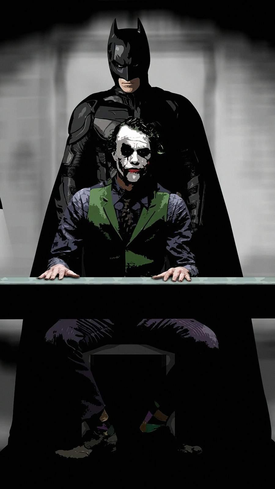 Batman and Joker iPhone Wallpaper