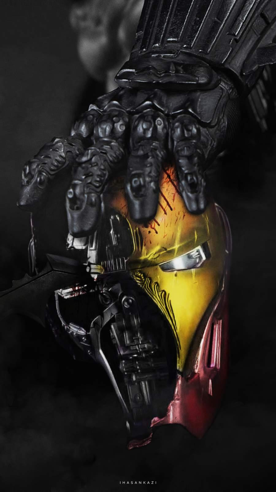 Batman vs Iron Man iPhone Wallpaper