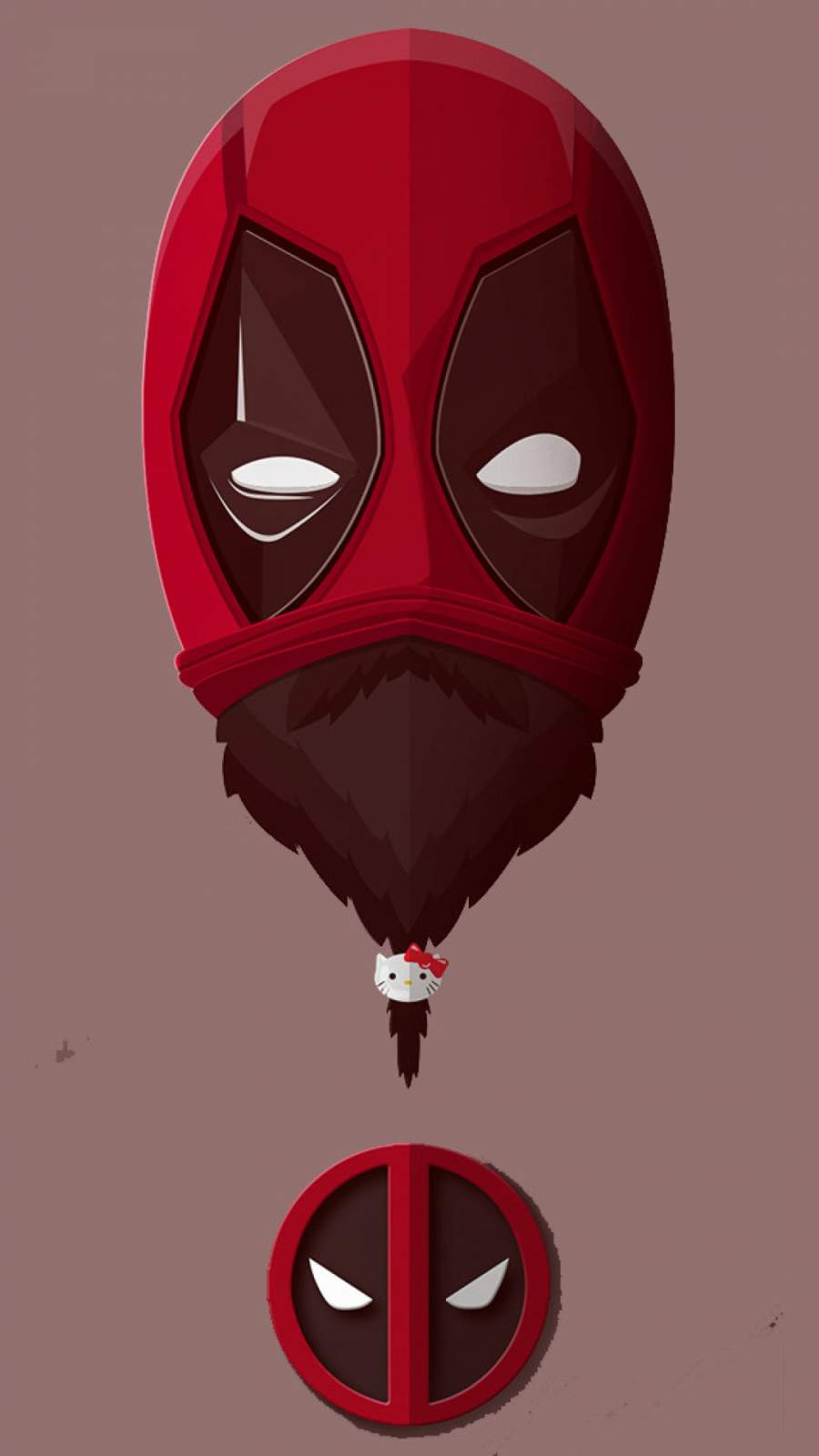 Bearded Deadpool iPhone Wallpaper