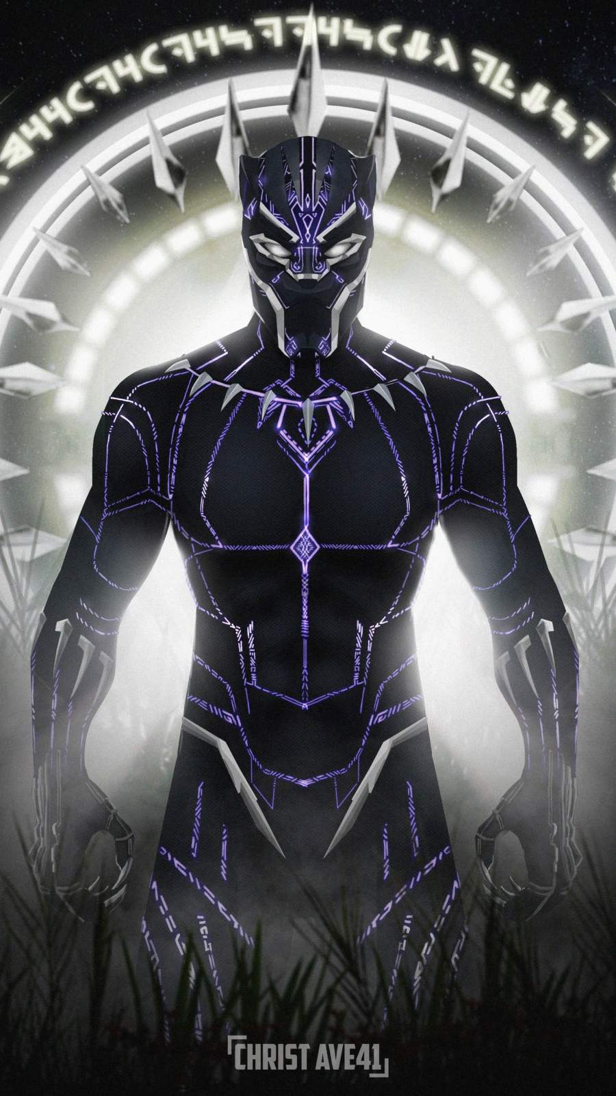 Black Panther Art iPhone Wallpaper