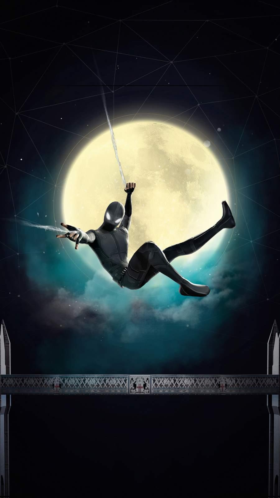 Black Spider Suit iPhone Wallpaper
