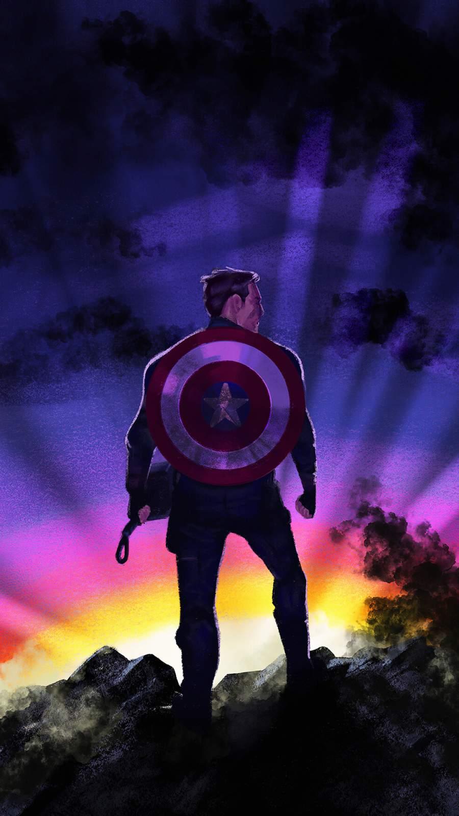 Captain America Sunrise iPhone Wallpaper
