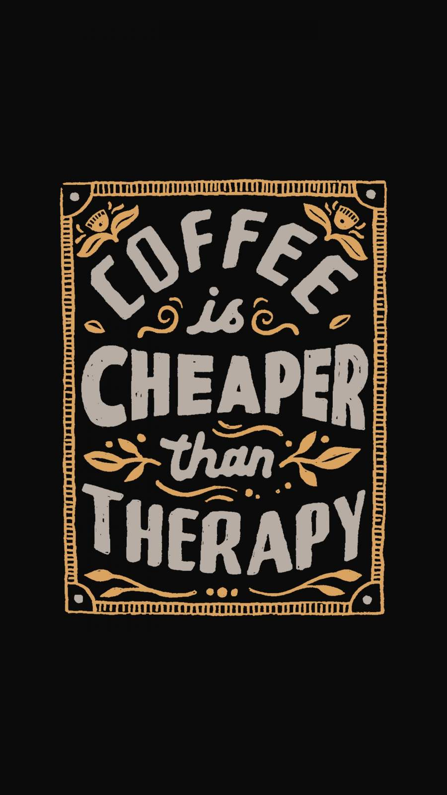 Coffee Therapy iPhone Wallpaper