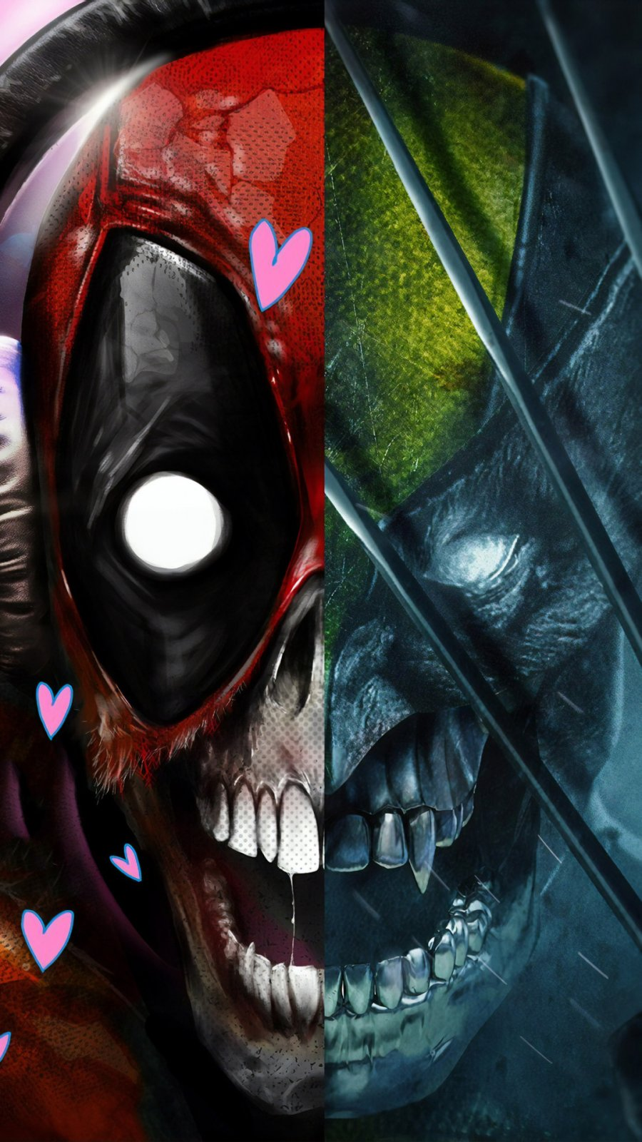 Deadpool x Wolverine iPhone Wallpaper
