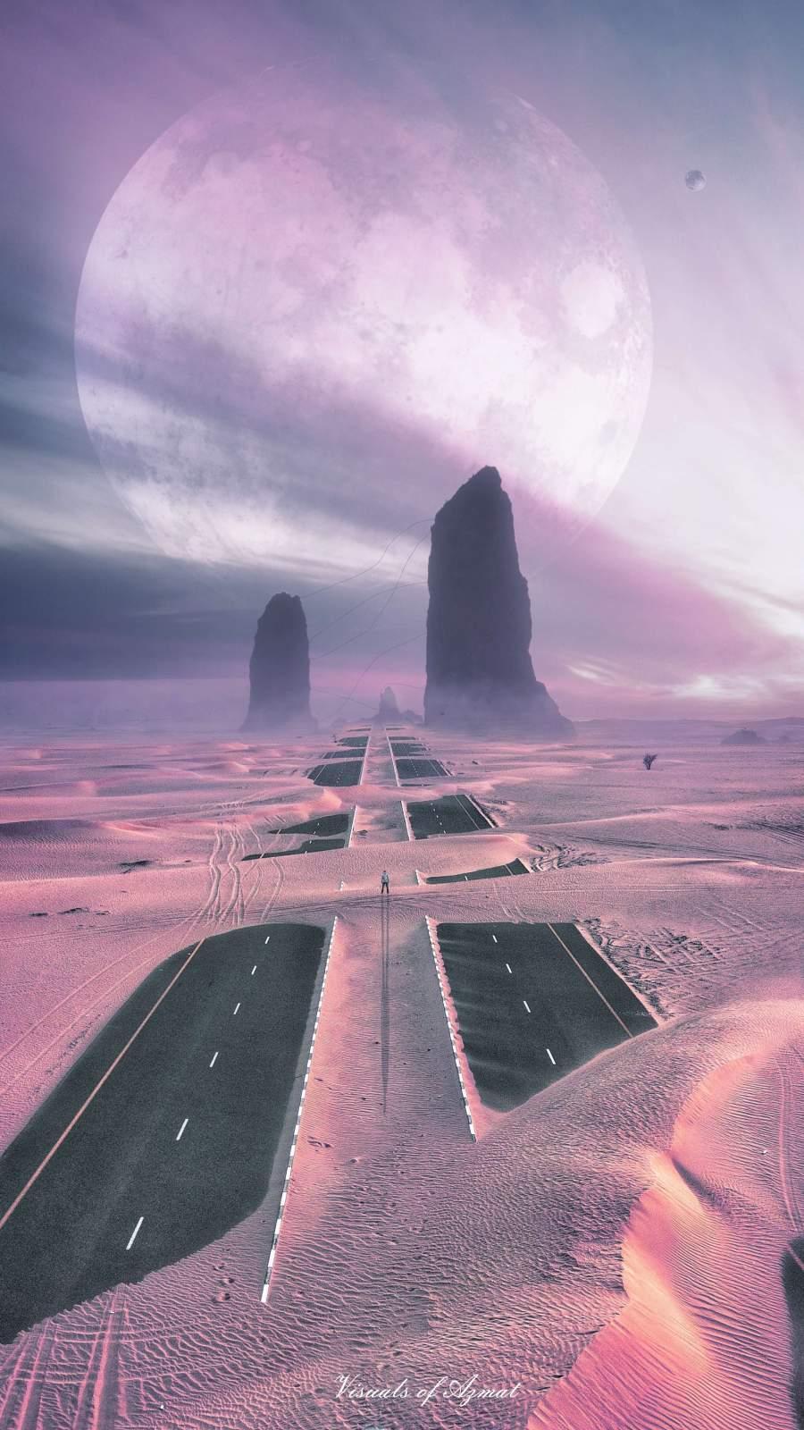 Desert Planet iPhone Wallpaper