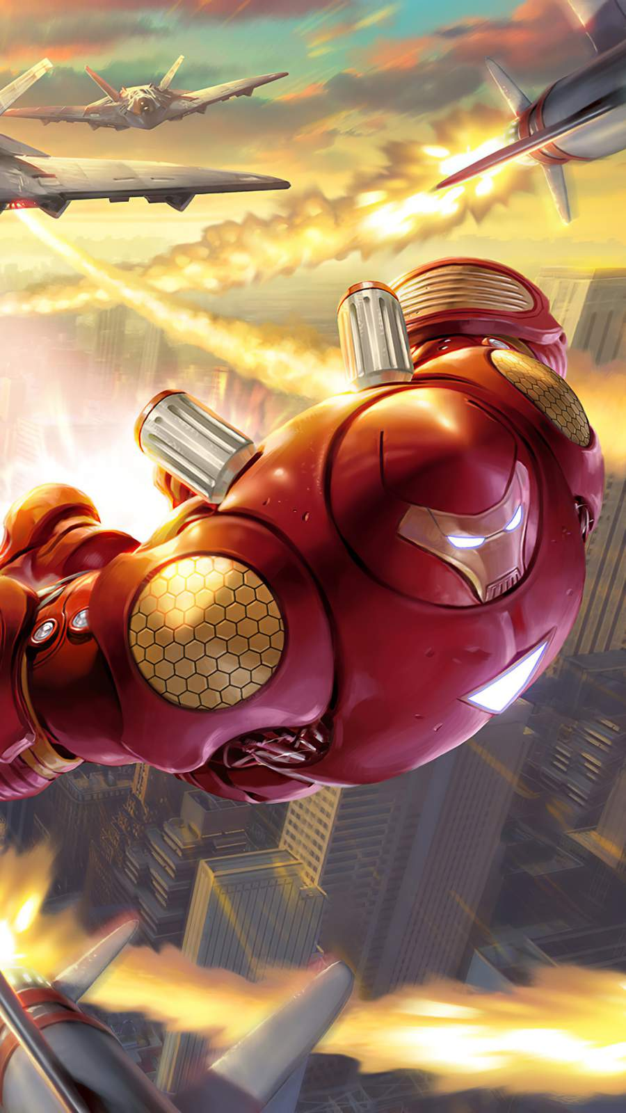 Future Hulkbuster Suit iPhone Wallpaper