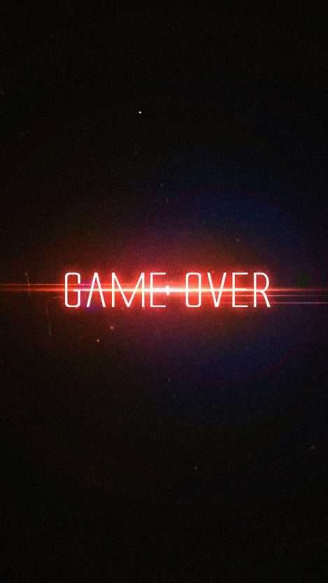 Game Over 4K iPhone Wallpaper