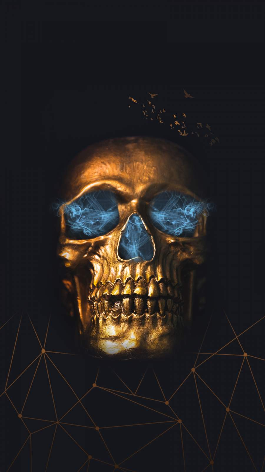 Golden Skull iPhone Wallpaper