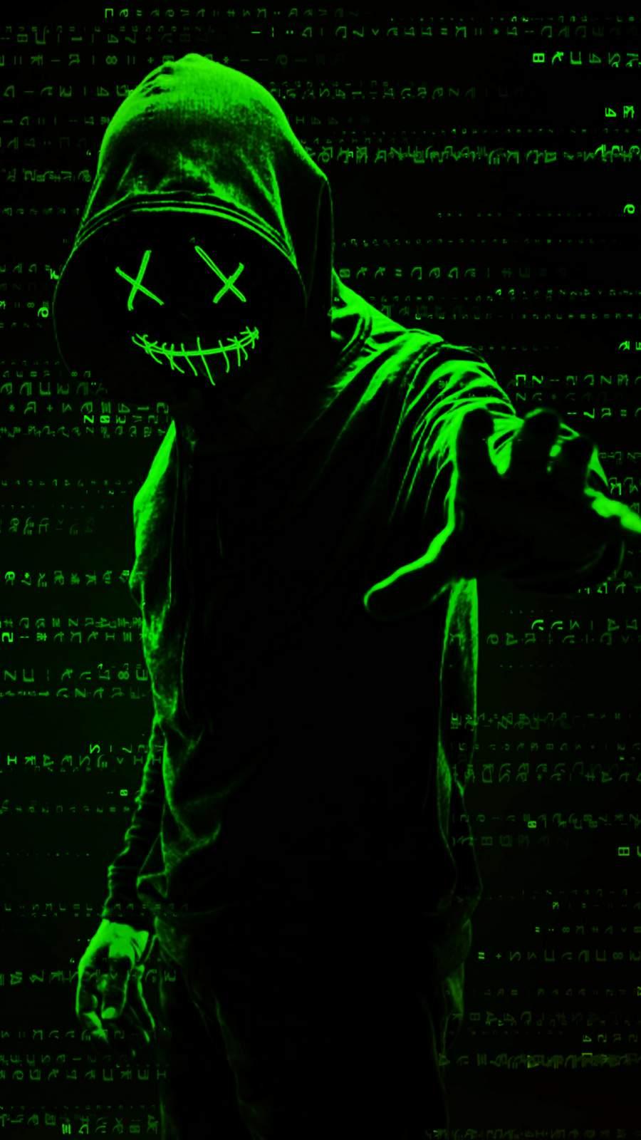 Green Hacker iPhone Wallpaper