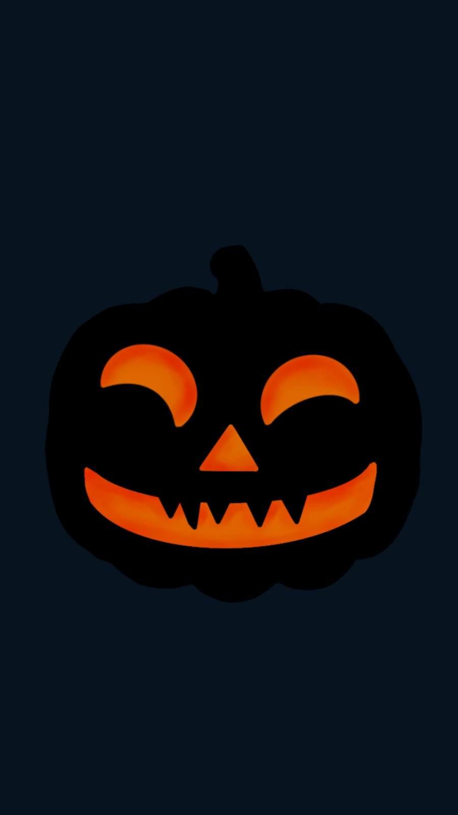 Happy Pumpkin iPhone Wallpaper