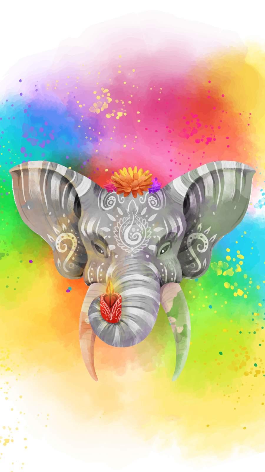 Hindu Ganesha iPhone Wallpaper