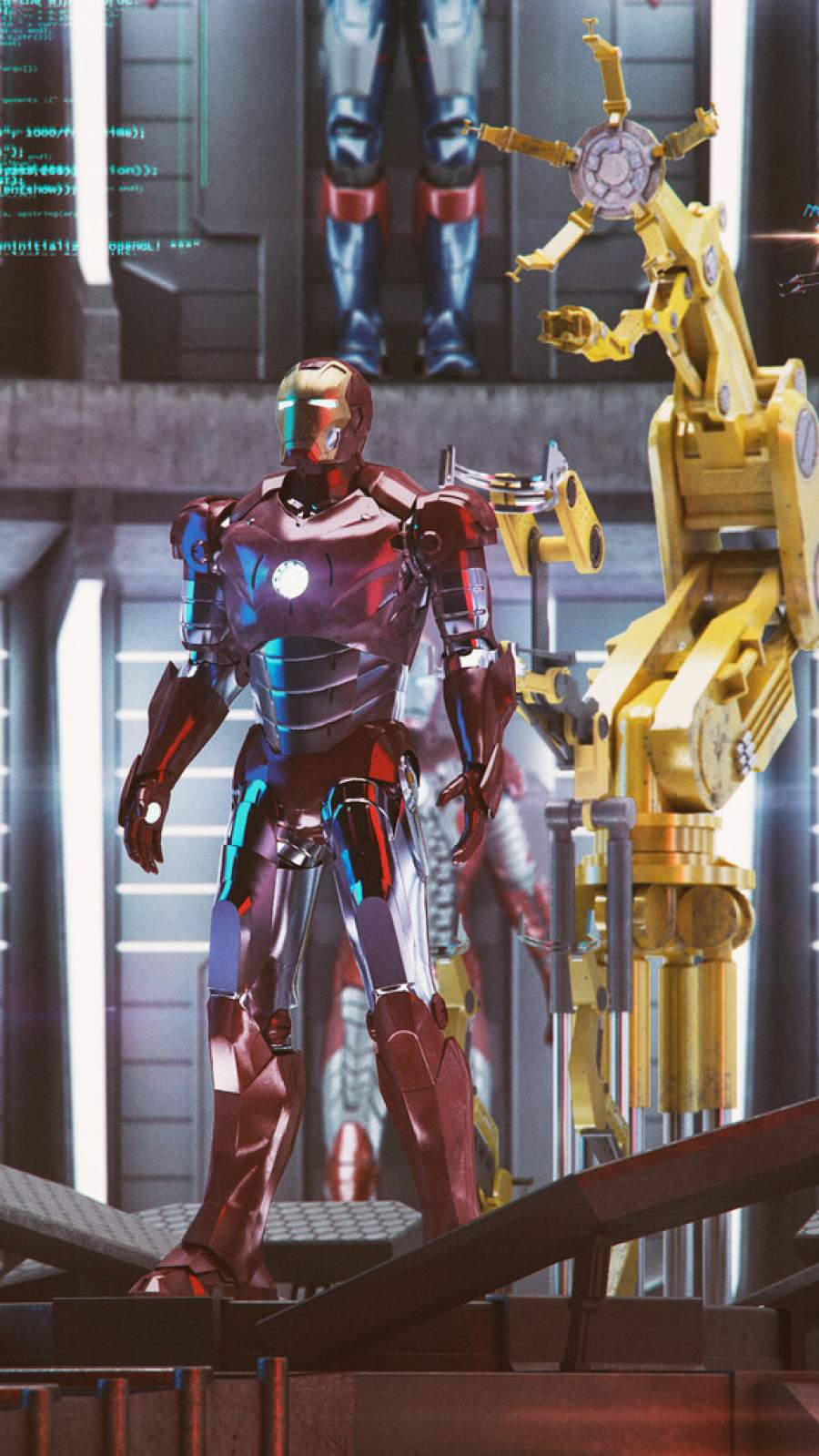 Iron Man Laboratory iPhone Wallpaper