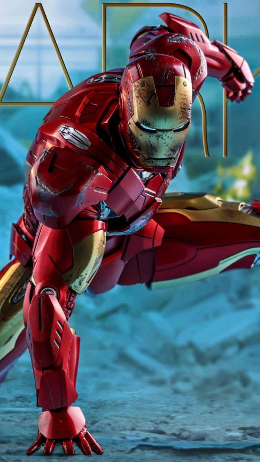 Iron Man Mark XLIX iPhone Wallpaper