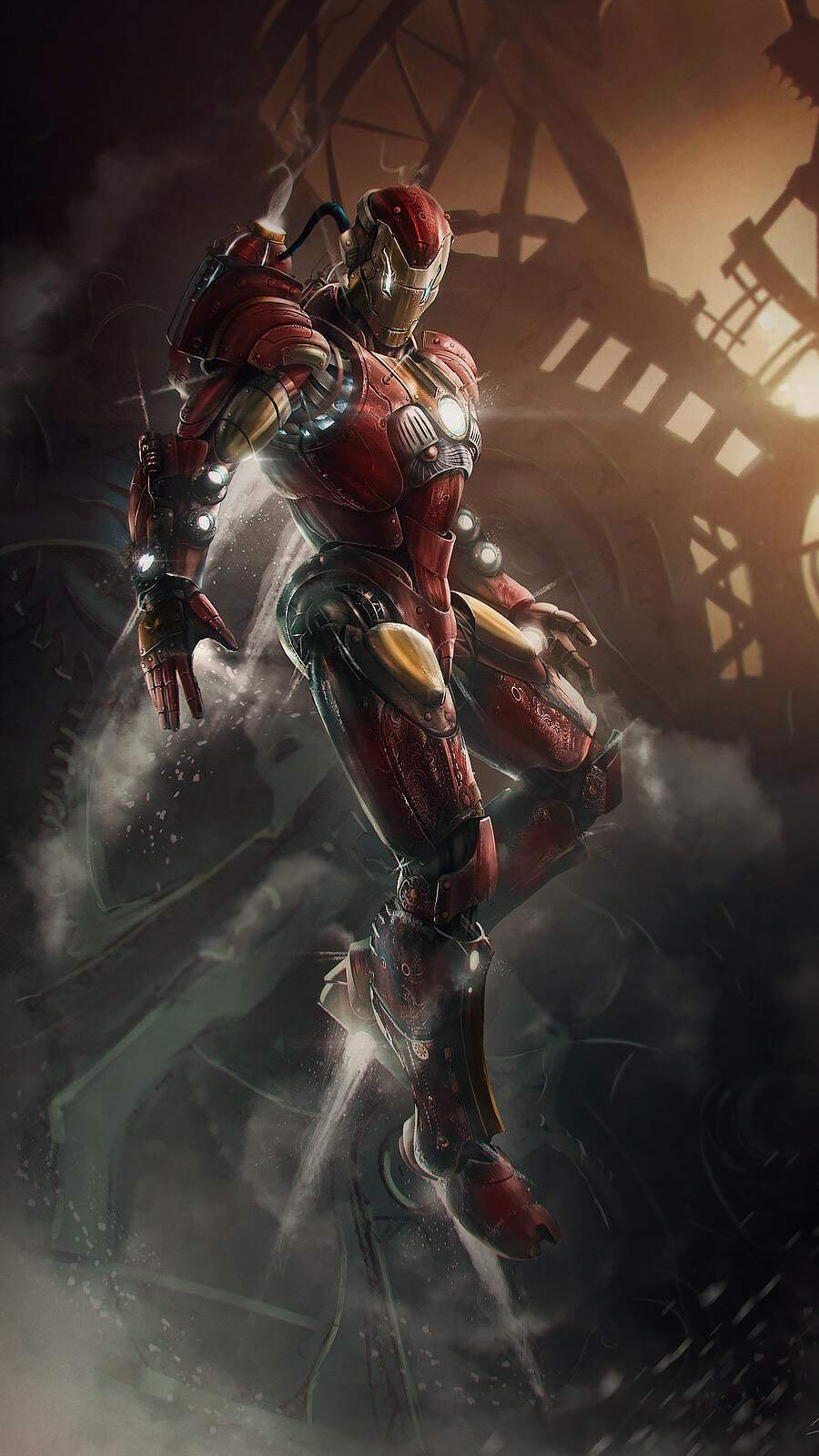 Iron Man Steampunk iPhone Wallpaper
