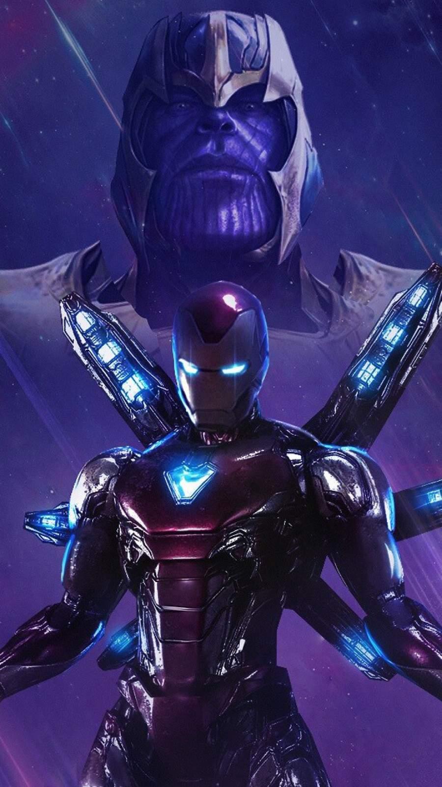 Iron Man vs Thanos iPhone Wallpaper