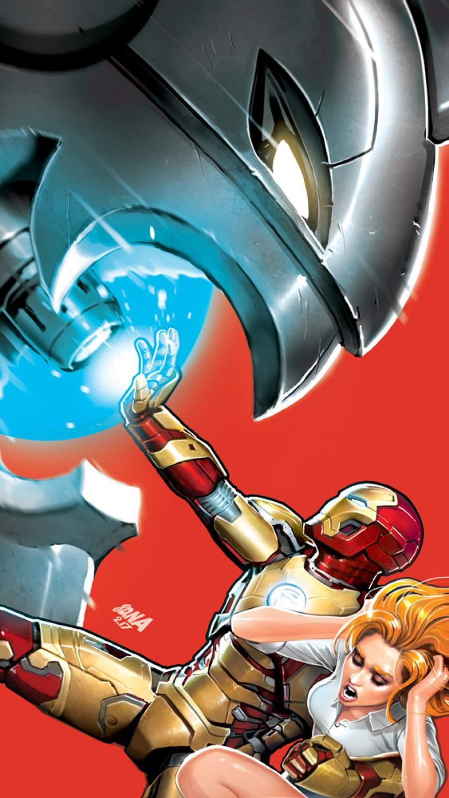 Iron Man vs Ultron iPhone Wallpaper