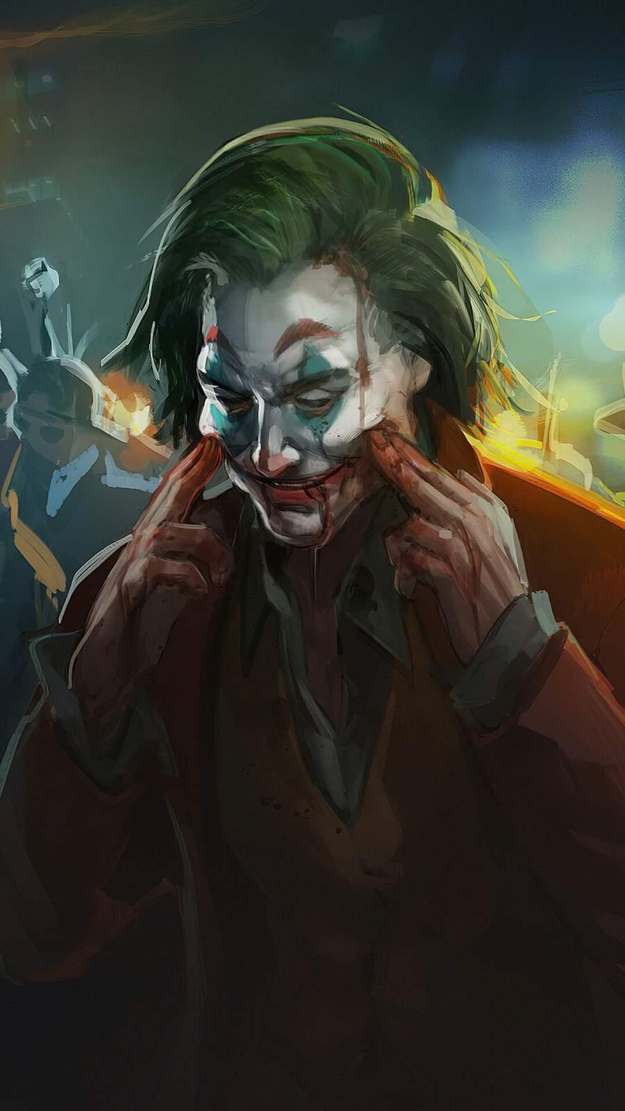 Joker Always Smile iPhone Wallpaper