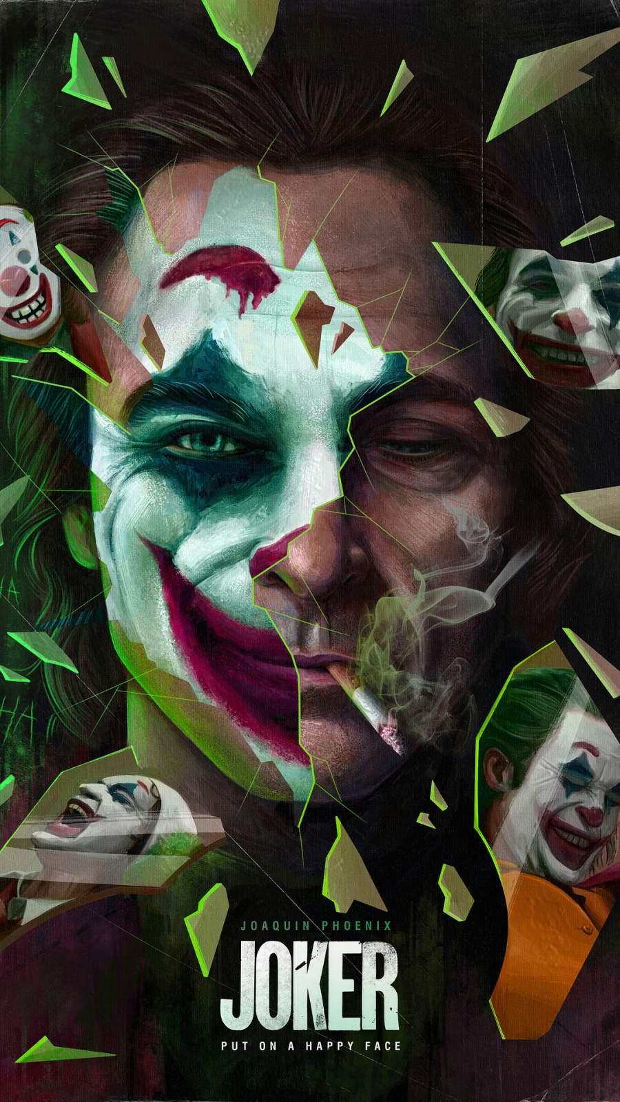 Joker Artwork iPhone Wallpaper