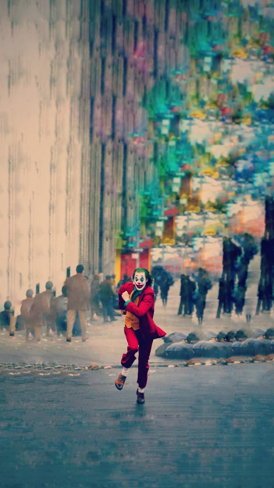 Joker Run iPhone Wallpaper