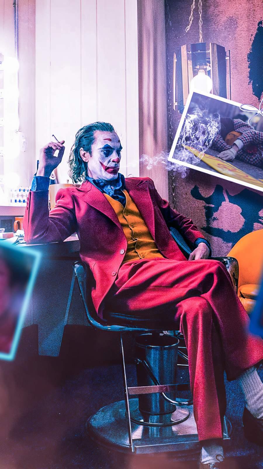 Joker Smoking iPhone Wallpaper