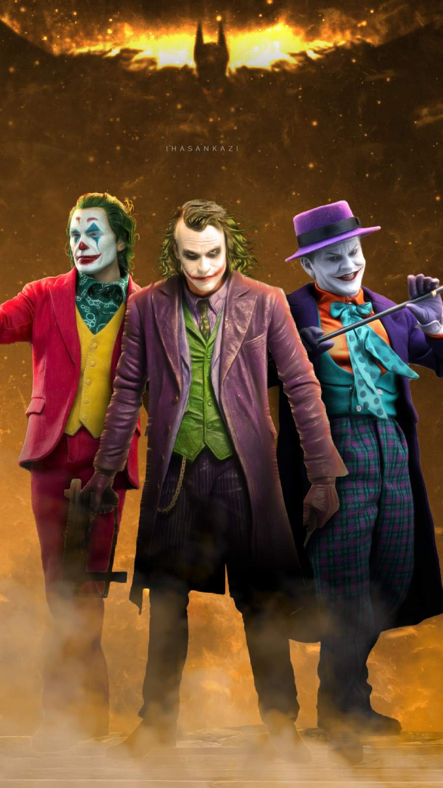 Joker Trio iPhone Wallpaper