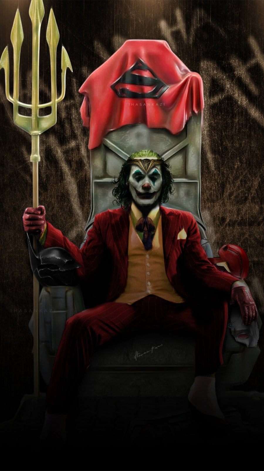King Joker iPhone Wallpaper
