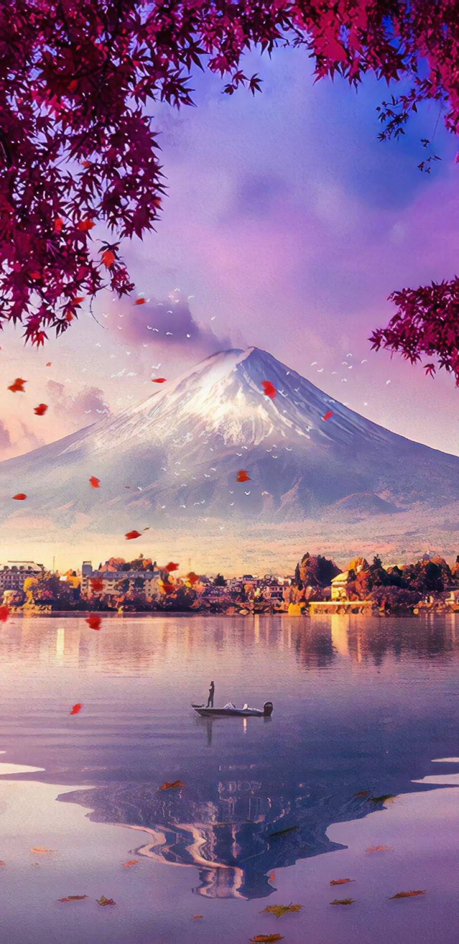Mount Fuji View iPhone Wallpaper