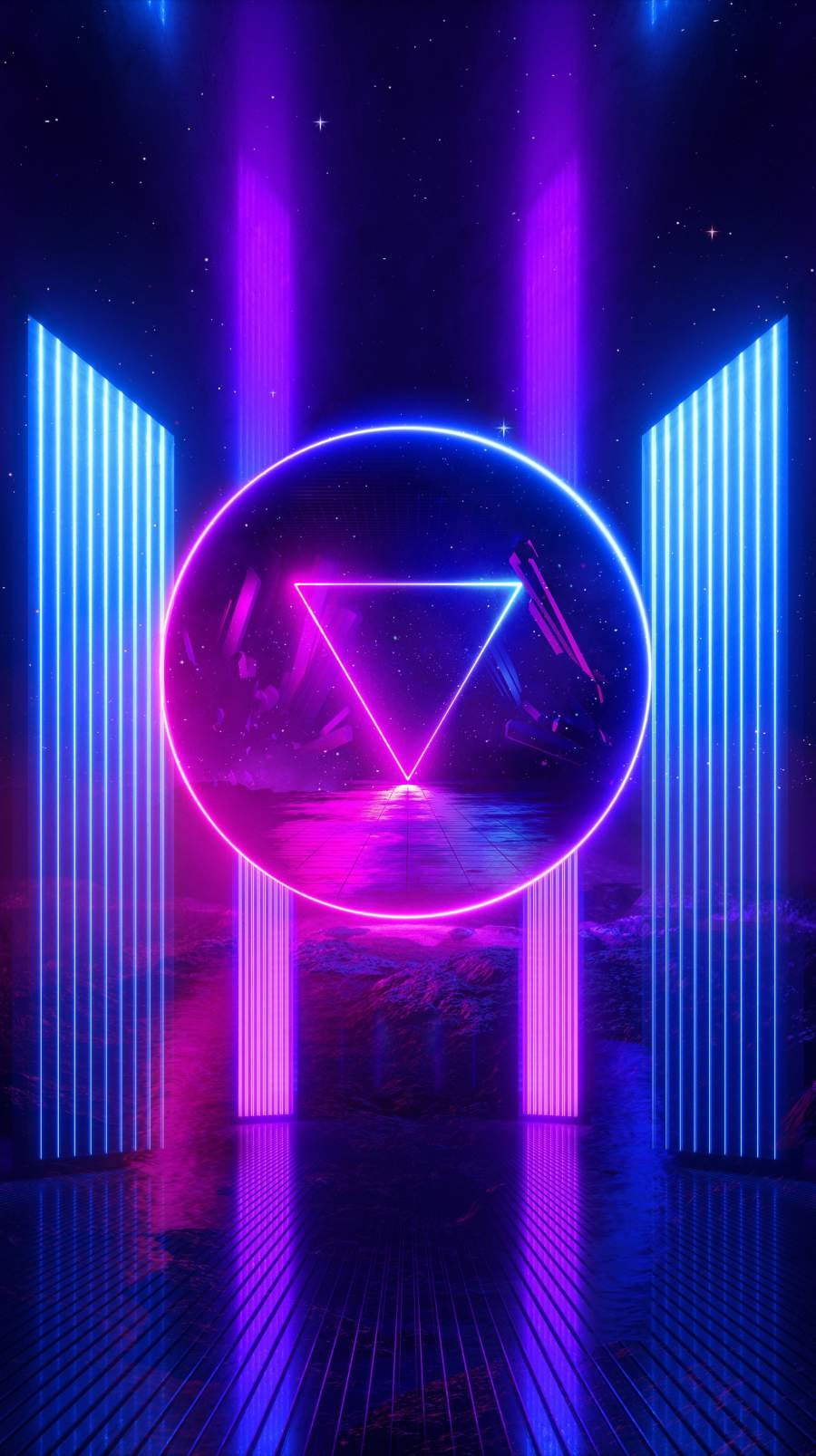 Neon Shine iPhone Wallpaper