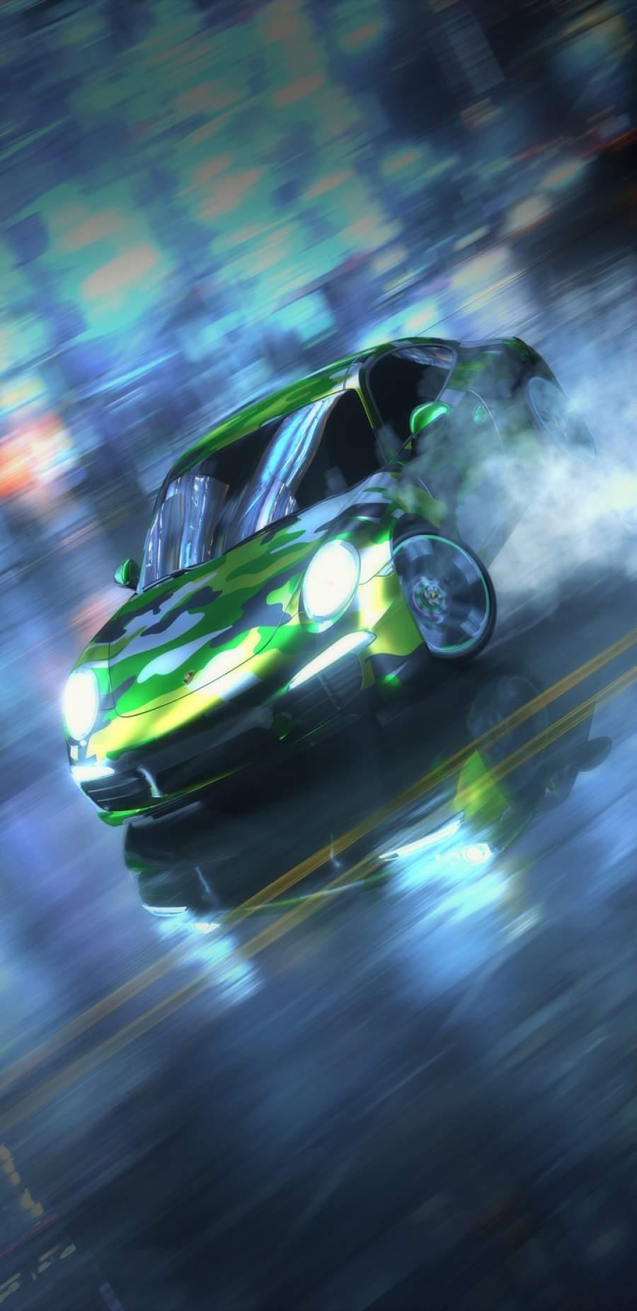 Porsche Drifting iPhone Wallpaper