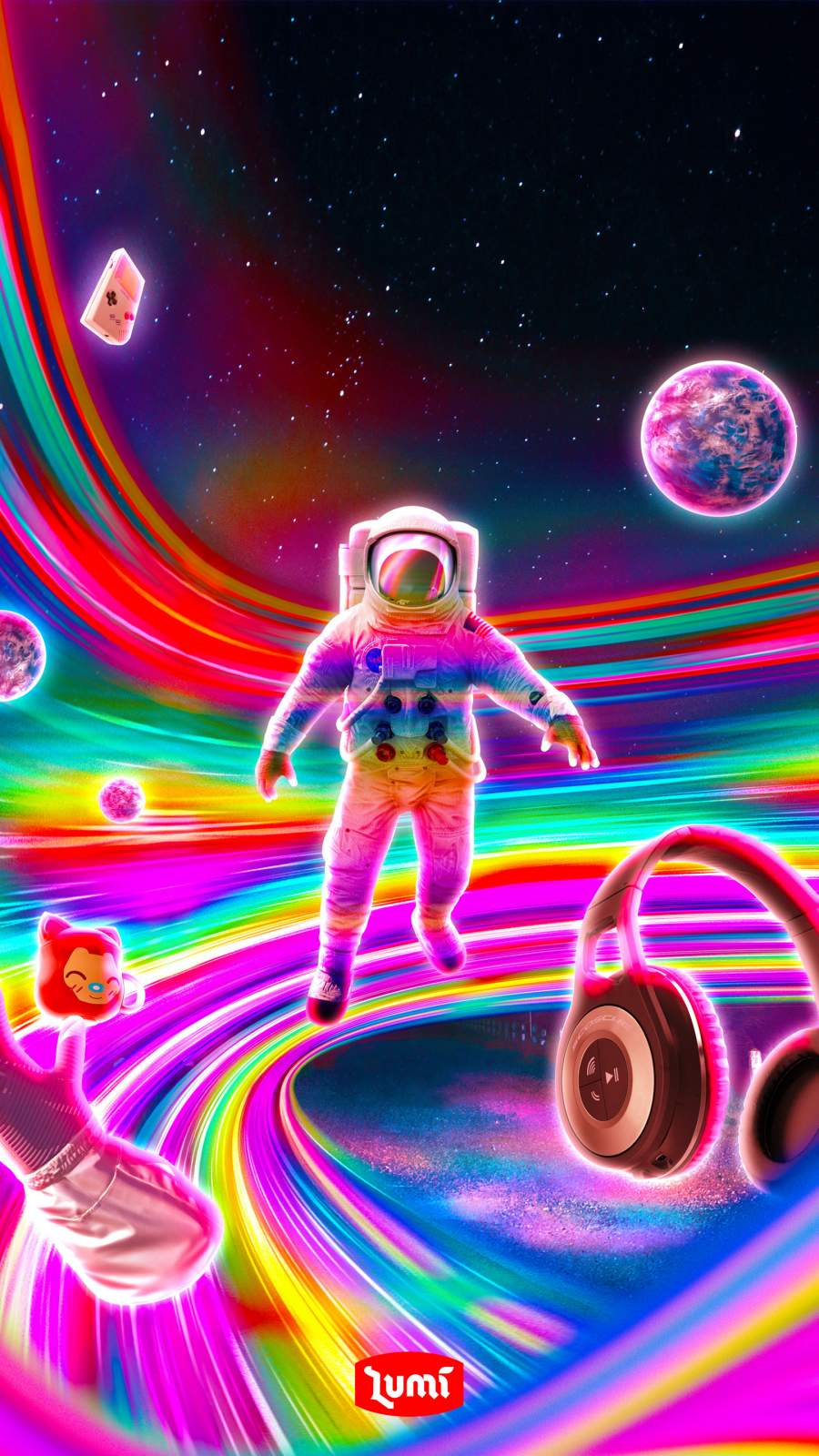 Rainbow Space iPhone Wallpaper