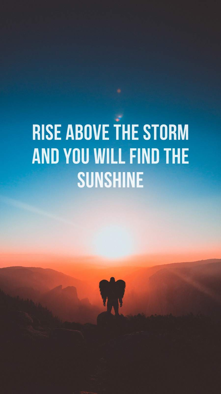 Rise Above Quote iPhone Wallpaper
