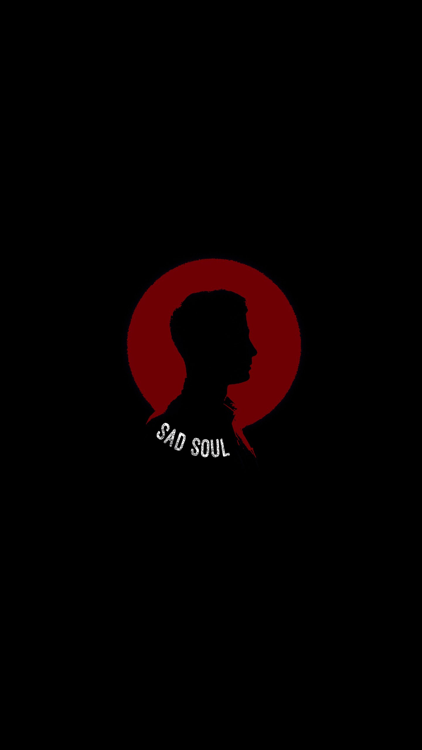 Sad Soul iPhone Wallpaper