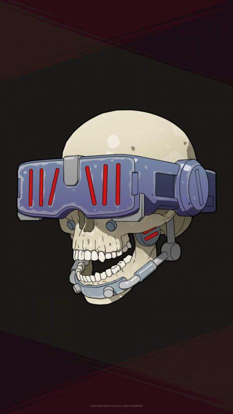 Skull Face iPhone Wallpaper