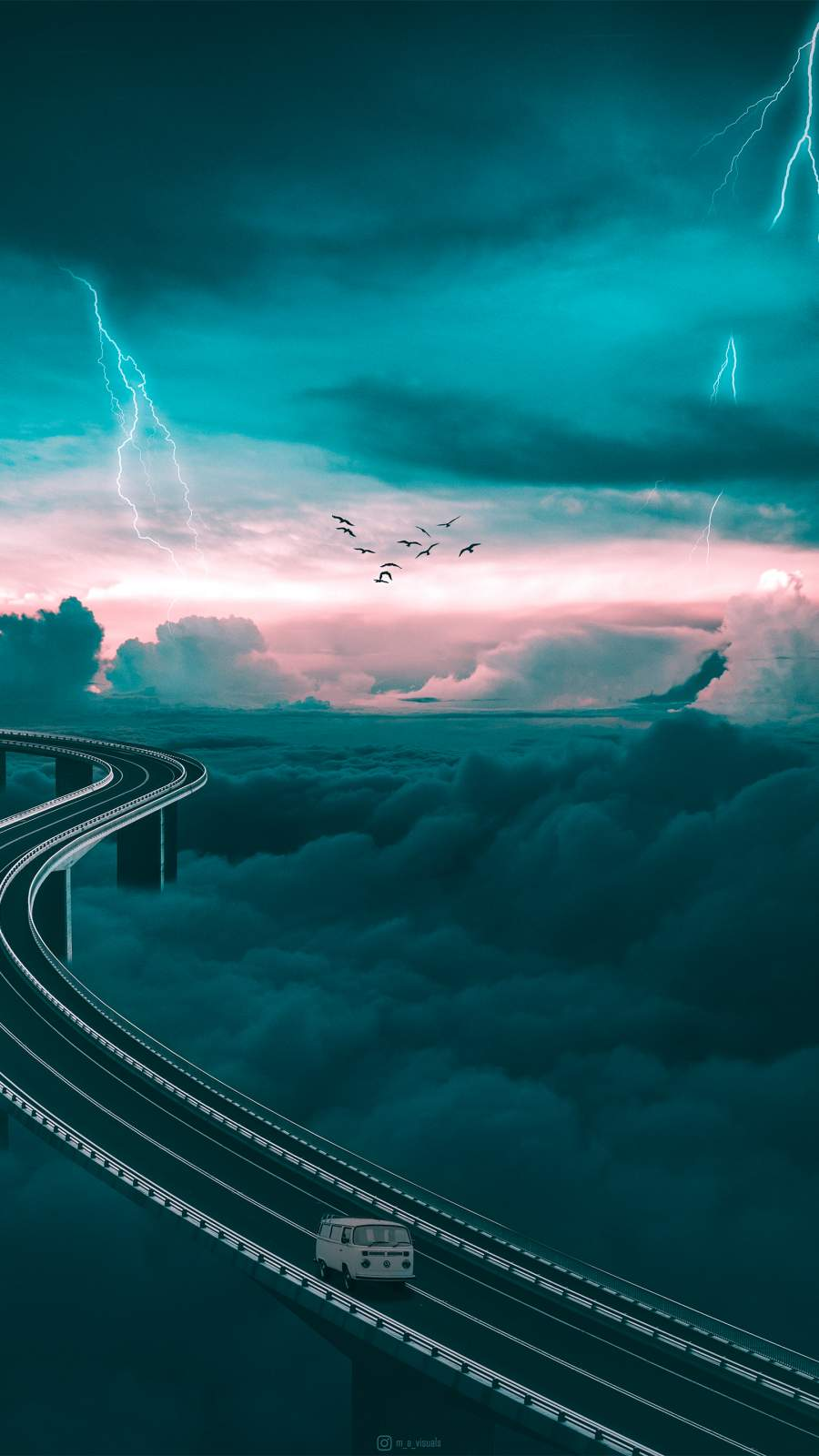Sky Road iPhone Wallpaper