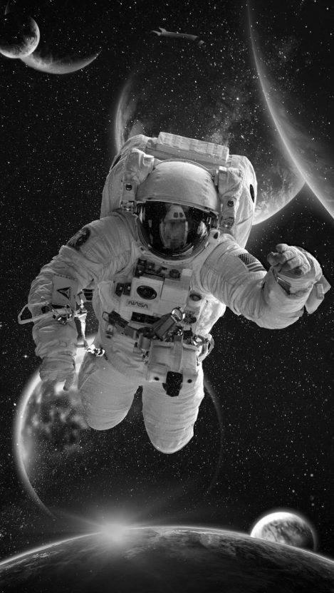 Space Astronaut iPhone Wallpaper