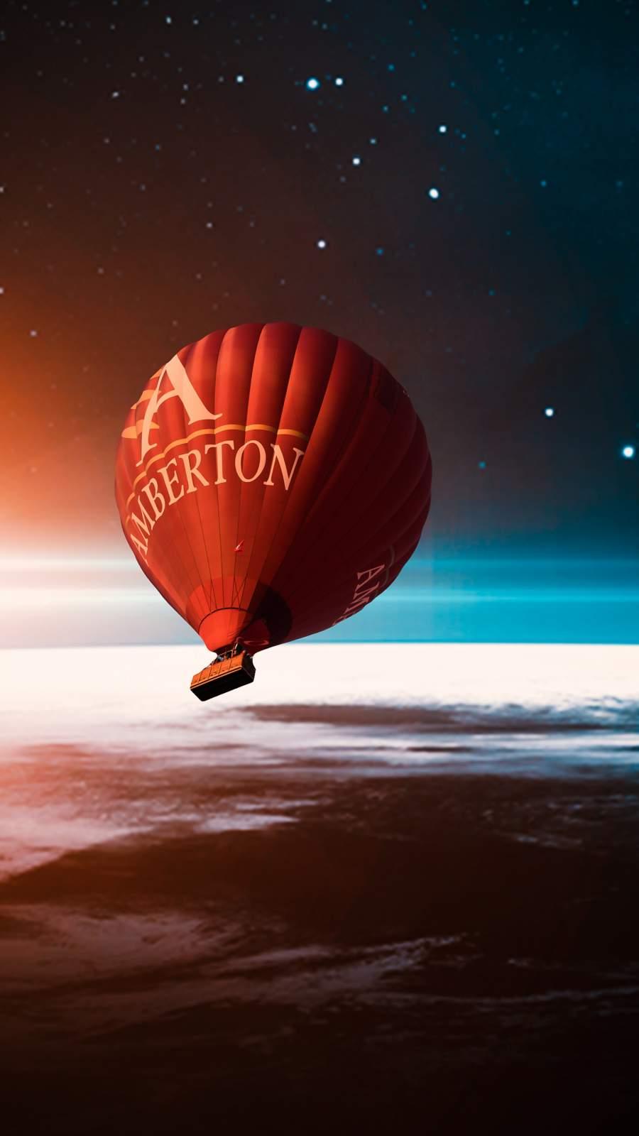 Space Ballon iPhone Wallpaper
