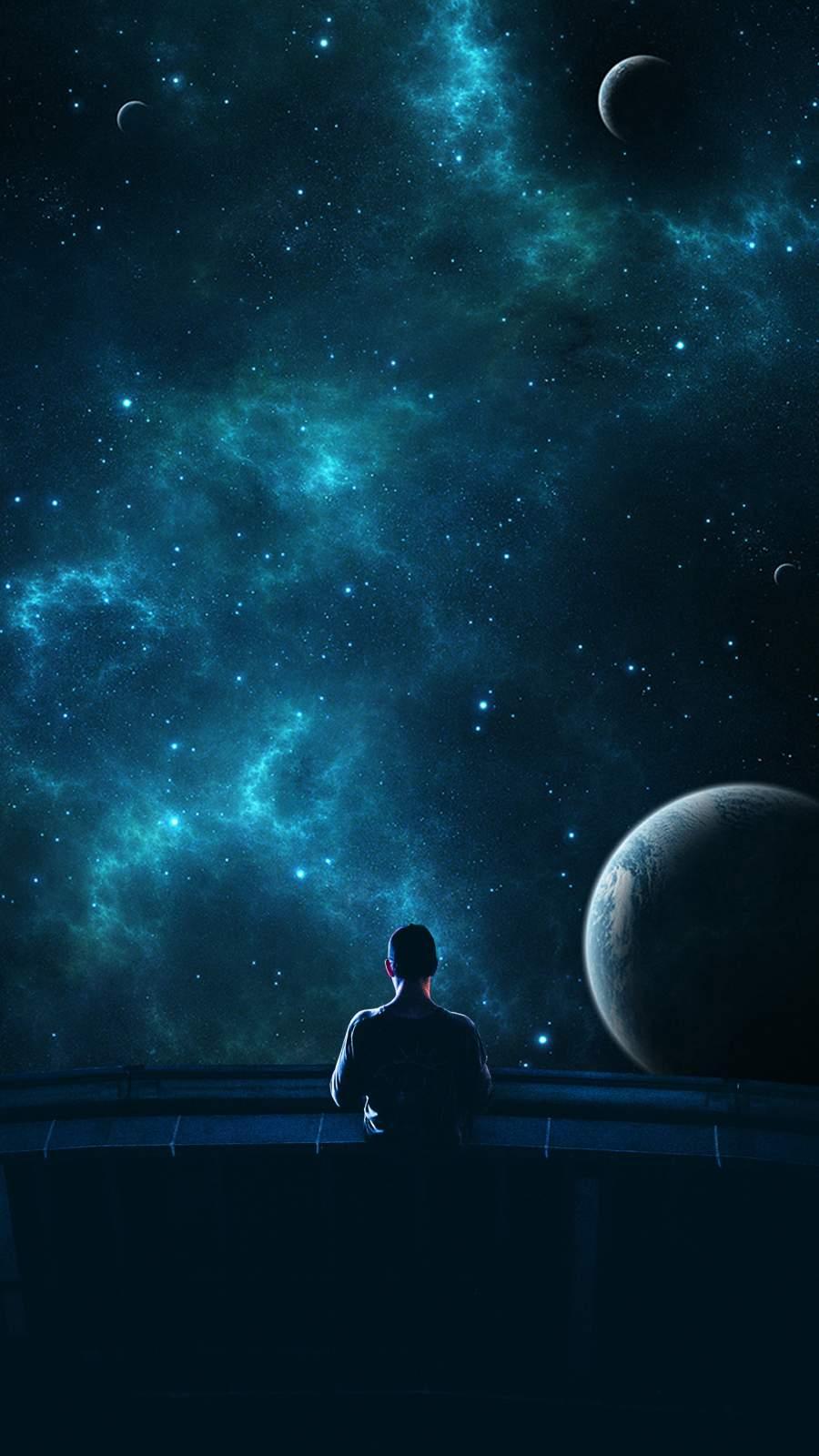 Space Man iPhone Wallpaper