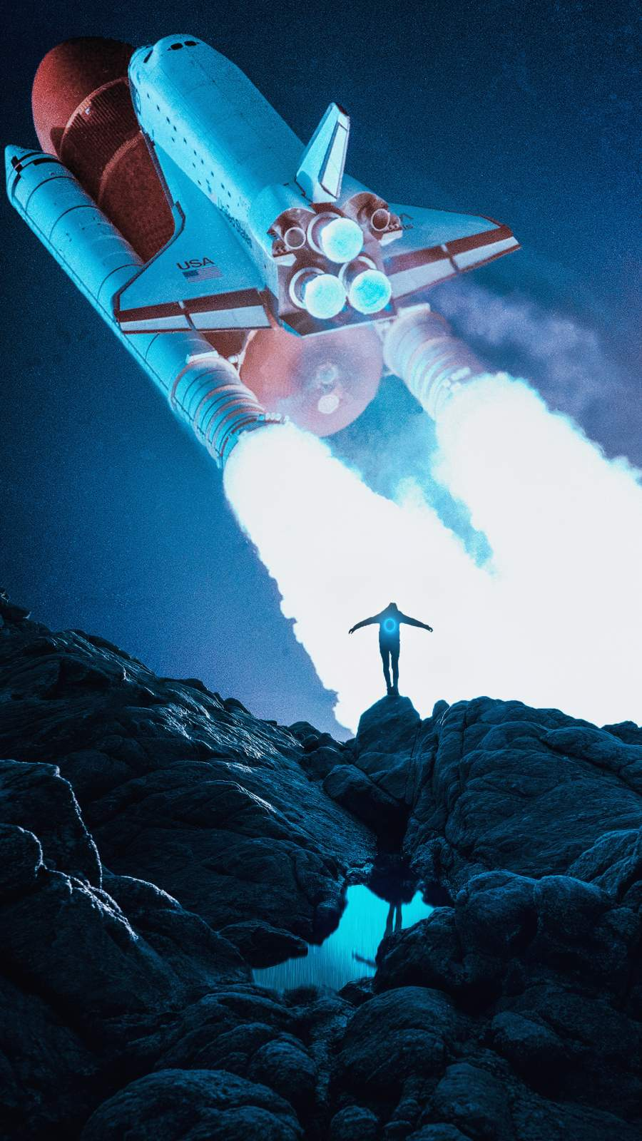 Spaceship iPhone Wallpaper