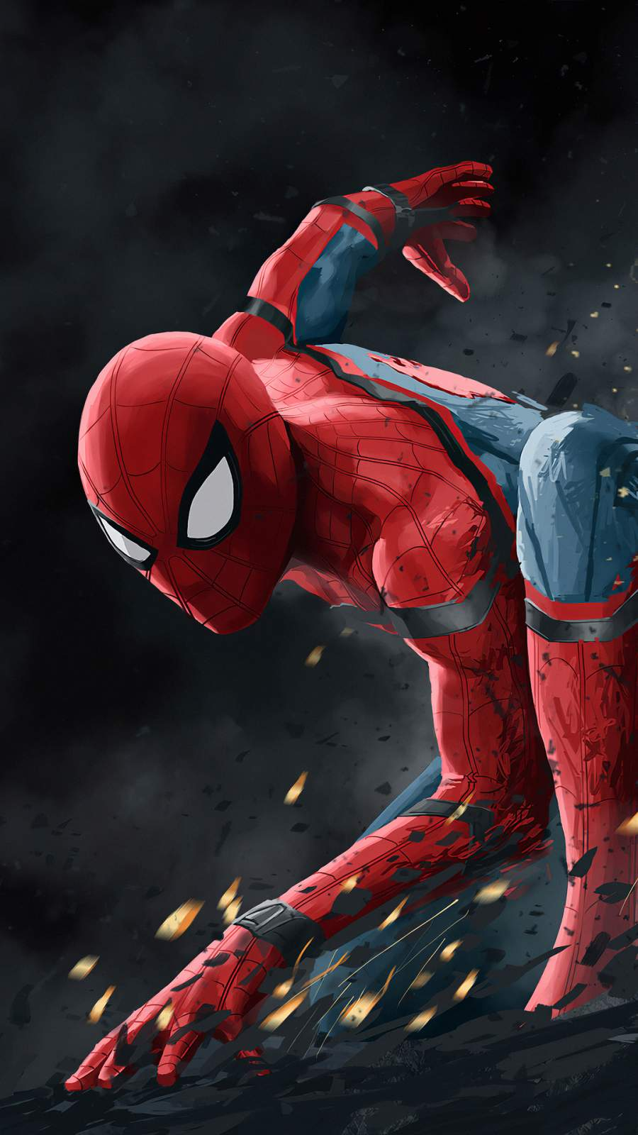 Spider Man Action Art iPhone Wallpaper