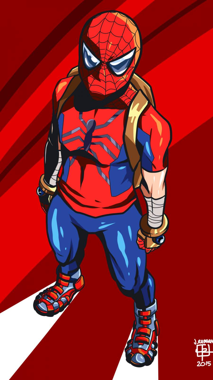 Spiderman School Bag iPhone Wallpaper
