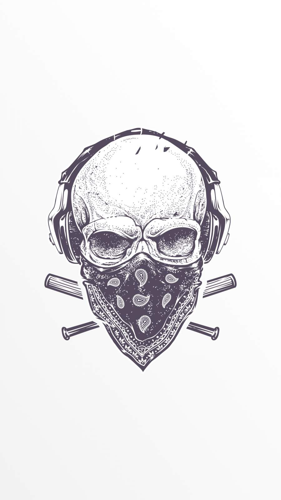 Tattoo Skull iPhone Wallpaper