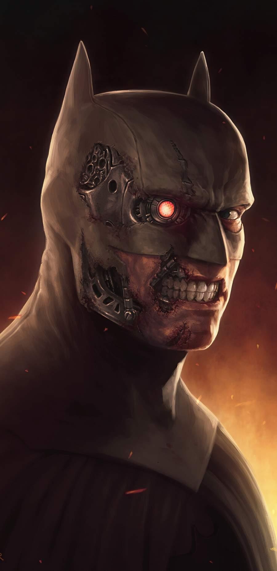 Terminator Batman iPhone Wallpaper