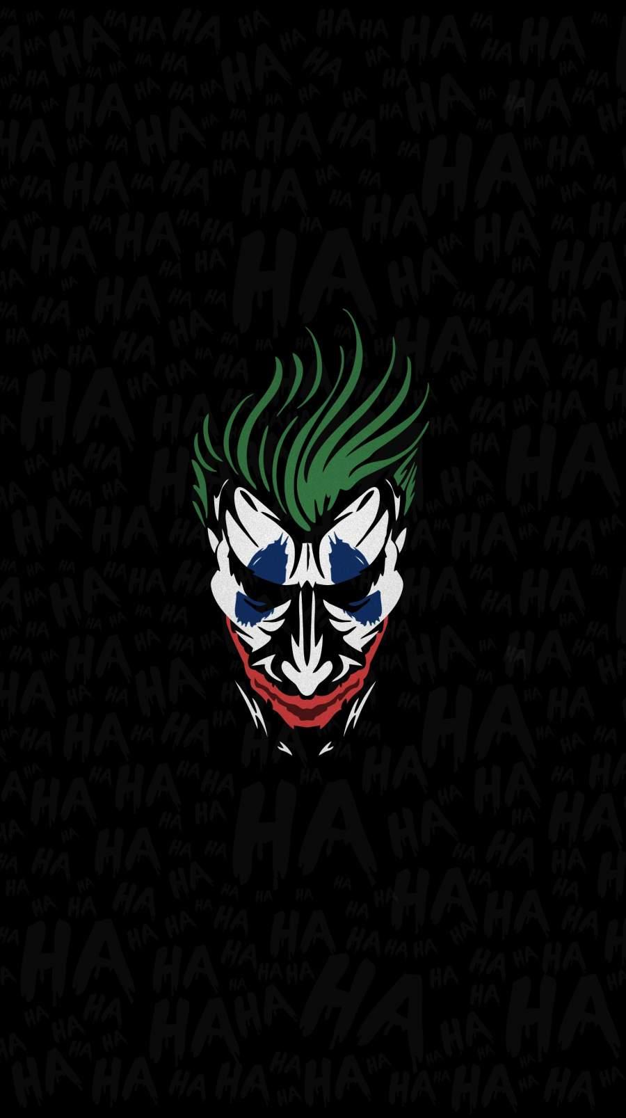 The Joker Face iPhone Wallpaper