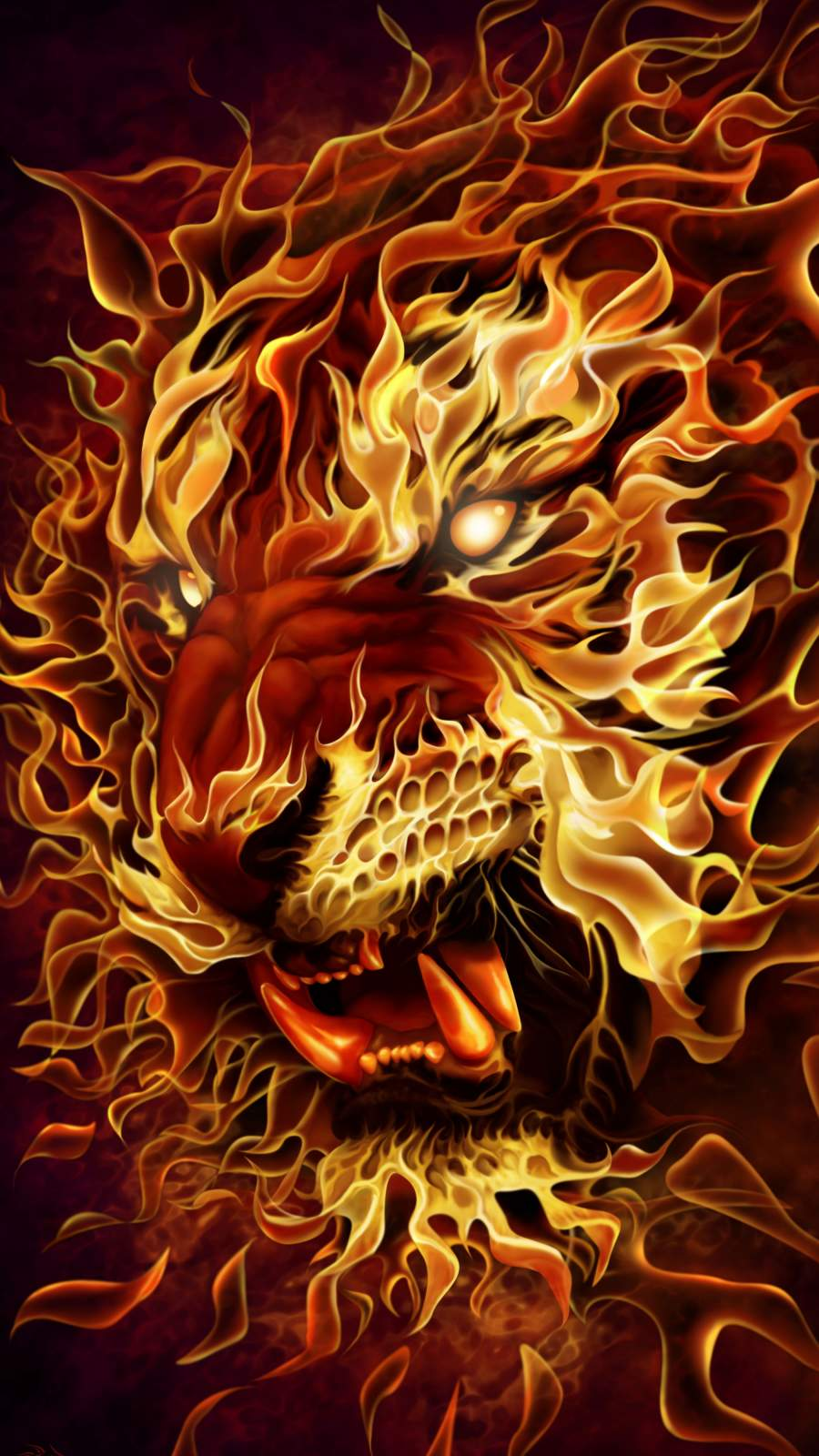 Tiger of Fire iPhone Wallpaper