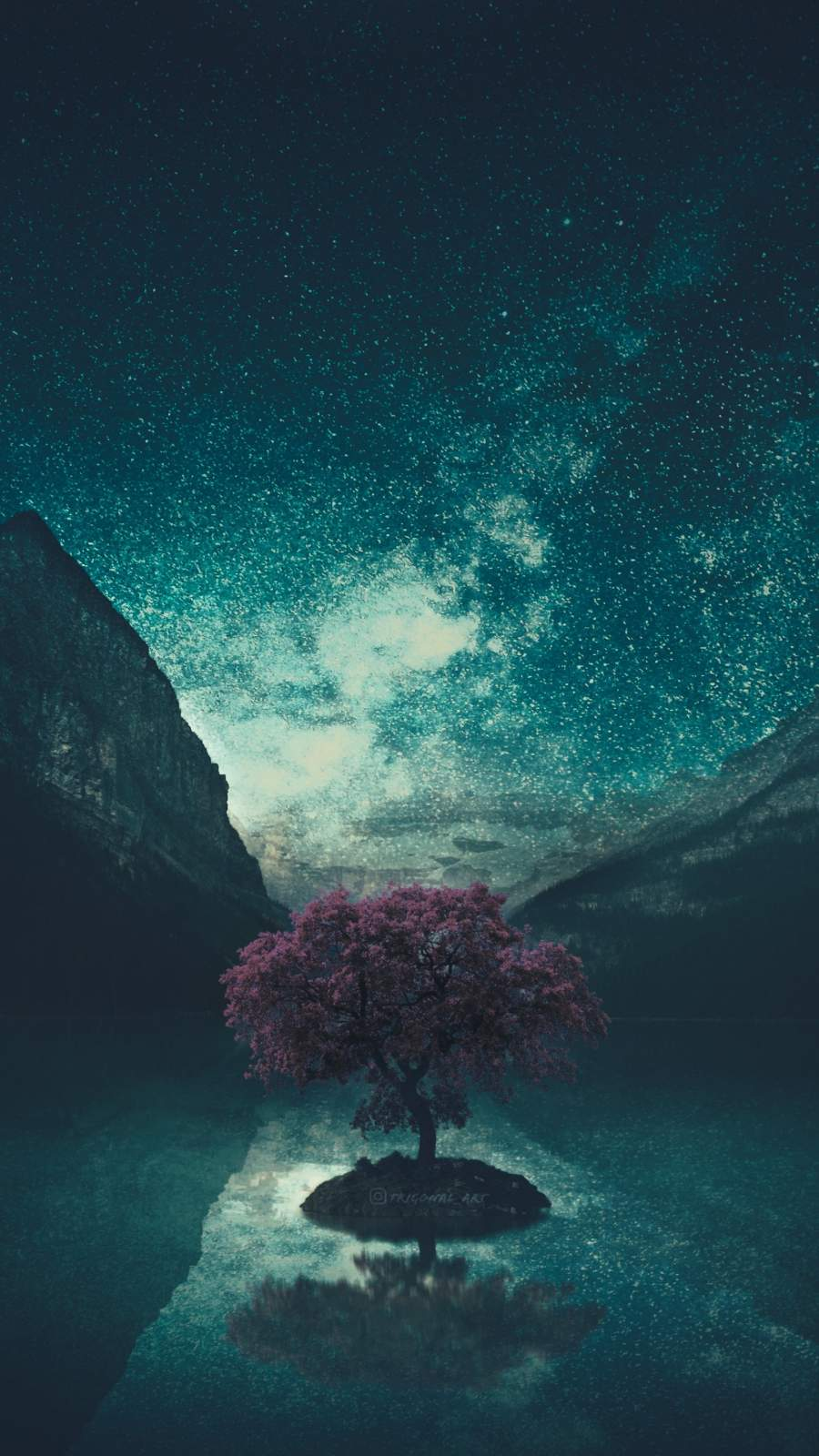 Tree and Stars iPhone Wallpaper