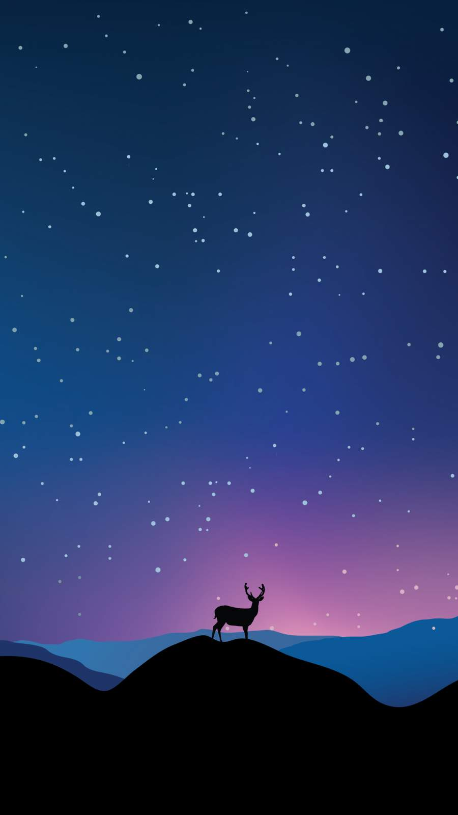 Under the Stars iPhone Wallpaper