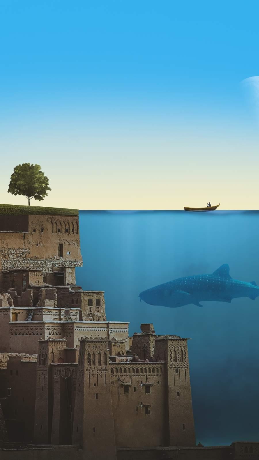 Underwater World iPhone Wallpaper