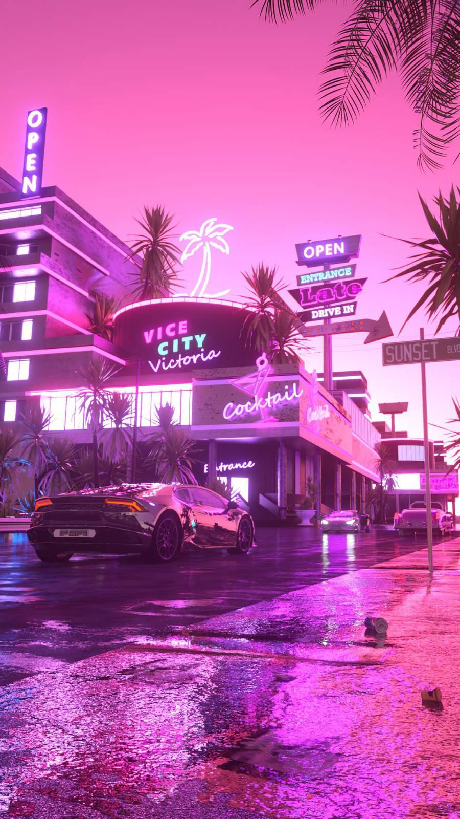 Vice City iPhone Wallpaper